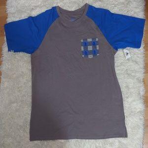 NWT Mickey Mouse Plaid Pocket Shirt